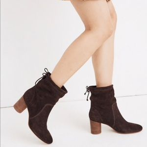 Madewell Neva Foldover Suede Boots Booties NEW